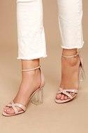 Aida Blush Patent Lucite Heels 1