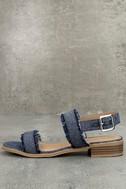 Elin Dark Blue Denim Heeled Sandals 1