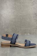 Elin Dark Blue Denim Heeled Sandals 4