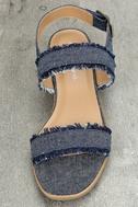 Elin Dark Blue Denim Heeled Sandals 5