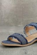 Elin Dark Blue Denim Heeled Sandals 6