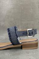 Elin Dark Blue Denim Heeled Sandals 7