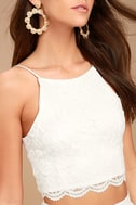 Midnight Memories White Lace Two-Piece Maxi Dress 4