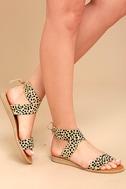 Dolce Vita Pomona Leopard Pony Fur Lace-Up Sandals 1