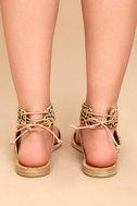 Dolce Vita Pomona Leopard Pony Fur Lace-Up Sandals 4