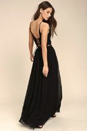 Midnight Memories Black Lace Two-Piece Maxi Dress 2