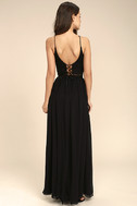 Midnight Memories Black Lace Two-Piece Maxi Dress 3