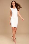 Simply Radiant White Bodycon Dress 2