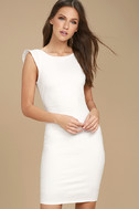 Simply Radiant White Bodycon Dress 3
