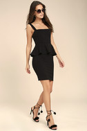 One More Kiss Black Peplum Dress 2