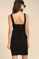 One More Kiss Black Peplum Dress 3