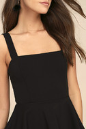 One More Kiss Black Peplum Dress 4