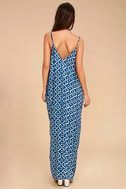 Beautiful Day Blue and White Print Maxi Dress 3