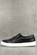 Ninette Black Slip-On Sneakers 1