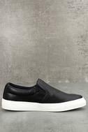 Ninette Black Slip-On Sneakers 3