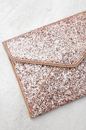 Rock Candy Rose Gold Sequin Clutch 2