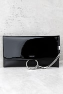 Easy Elegance Black Patent Clutch 1