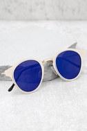 Spitfire Warp Gold and Blue Sunglasses 1
