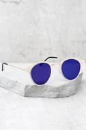 Spitfire Warp Gold and Blue Sunglasses 2