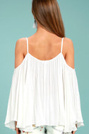 Thought-Provoking White Off-the-Shoulder Top 4