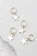 Shooting Stars Gold Hair Charms 1
