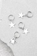 Shooting Stars Silver Hair Charms 1