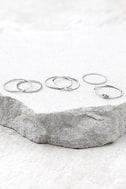 Tender Heart Silver Ring Set 1