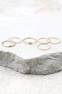 Tender Heart Gold Ring Set 1