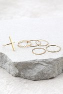 Modern Elegance Gold Ring Set 1