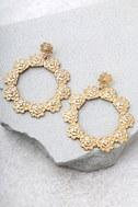 Among the Azaleas Gold Earrings 2