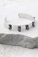 Tropical Treasures Silver Cuff Bracelet 1