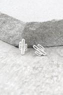 Cacti Cutie Silver Earrings 1