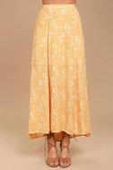 Amuse Society Shiva Yellow Floral Print Maxi Skirt 2