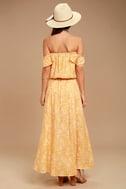 Amuse Society Shiva Yellow Floral Print Maxi Skirt 3