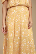 Amuse Society Shiva Yellow Floral Print Maxi Skirt 4