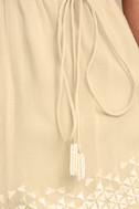 New Friends Colony Hadara Beige Embroidered Romper 4