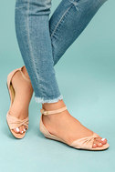 Maryanna Blush Suede Wedge Sandals 2