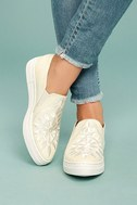 Seychelles Sunshine Natural Canvas Embroidered Slip-On Sneakers 1