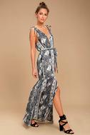 Mystical Moment Grey Print Maxi Dress 2