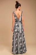 Mystical Moment Grey Print Maxi Dress 3