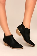 Marzia Black Distressed Ankle Booties 2