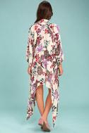 Patrons of Peace Rosa Cream Floral Print Kimono Top 3