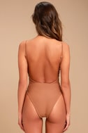 Blue Life Roped Up Brown Lace-Up One Piece Swimsuit 4