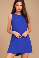 Sassy Sweetheart Royal Blue Shift Dress 1