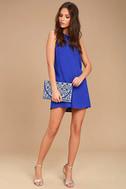 Sassy Sweetheart Royal Blue Shift Dress 2