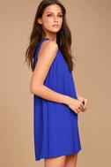 Sassy Sweetheart Royal Blue Shift Dress 3