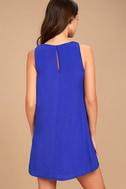 Sassy Sweetheart Royal Blue Shift Dress 4
