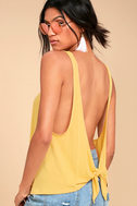 Finally the Weekend Yellow Tank Top 1