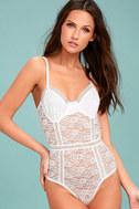 Lady Marmalade White Lace Bodysuit 1