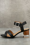 Blaire Black High Heel Sandals 1